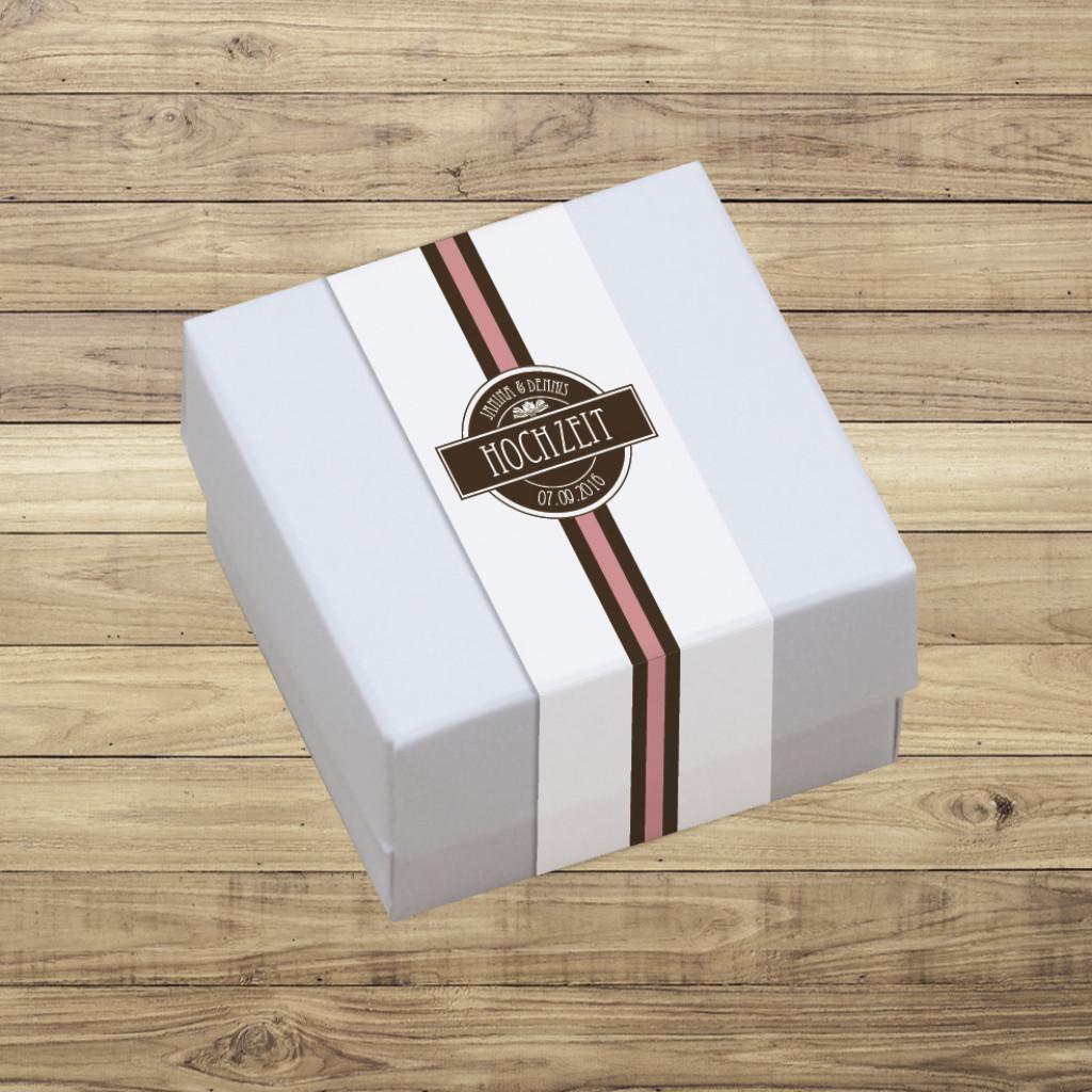 Geschenkschachtel mit Banderole