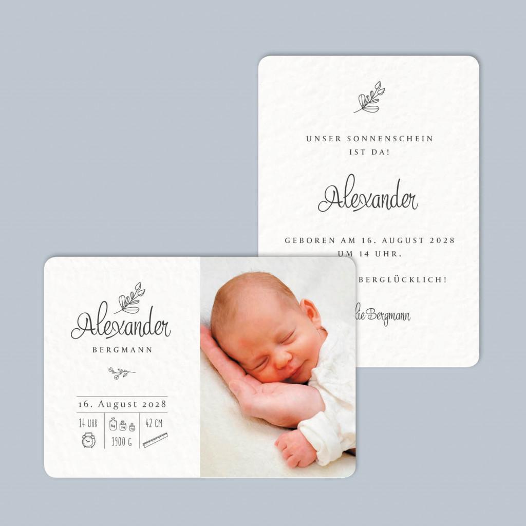 Postkarte zur Geburt - Taufe - Little me - 105 x 148