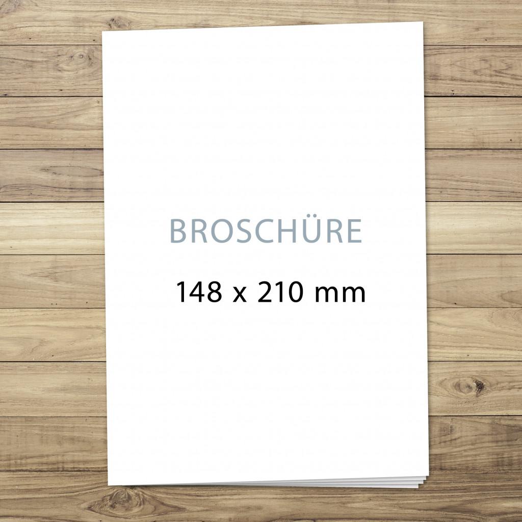 Broschüren im Format A5 – nur Druck u. Verarbeitung