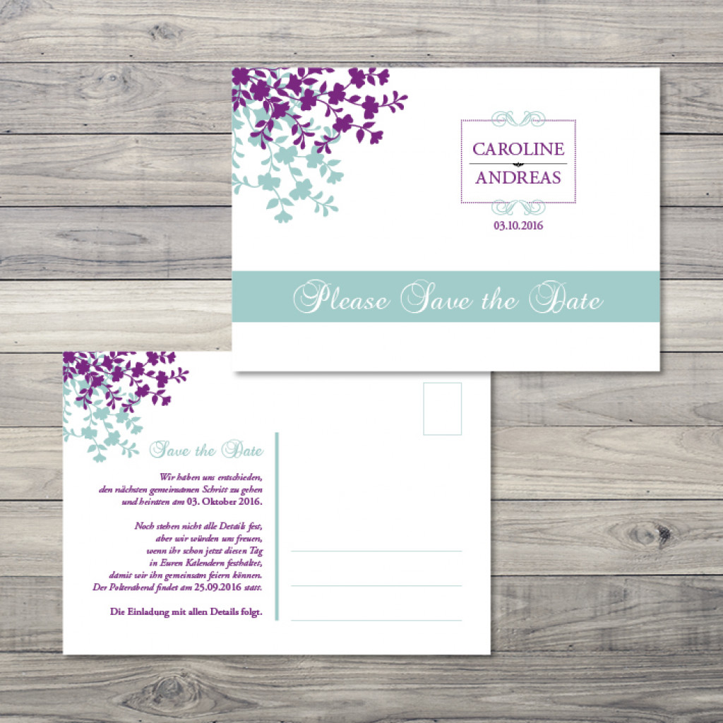 Garden of Love - Save the Date - Postkarte - 148 x 105