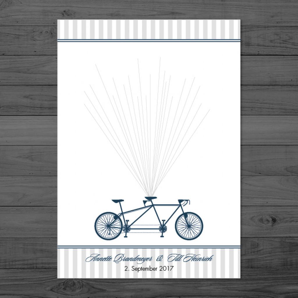 Grey Stripes - Weddingtree / Fingerprintposter