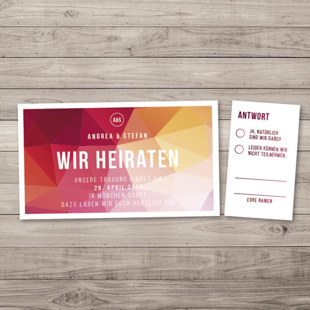 polygon wedding - einladung - ticket/eintrittskarte, Einladung