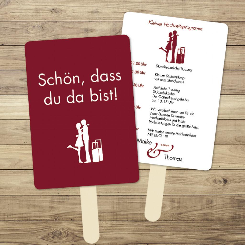 Reiseträume/Love is in the Air - Fächer am Holzstiel - 105 x 148