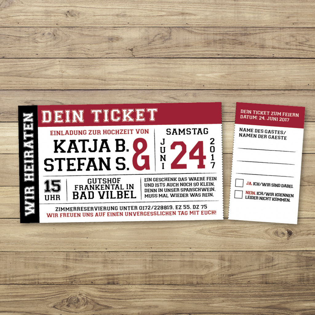 love on stage - einladung - ticket/eintrittskarte, Einladung