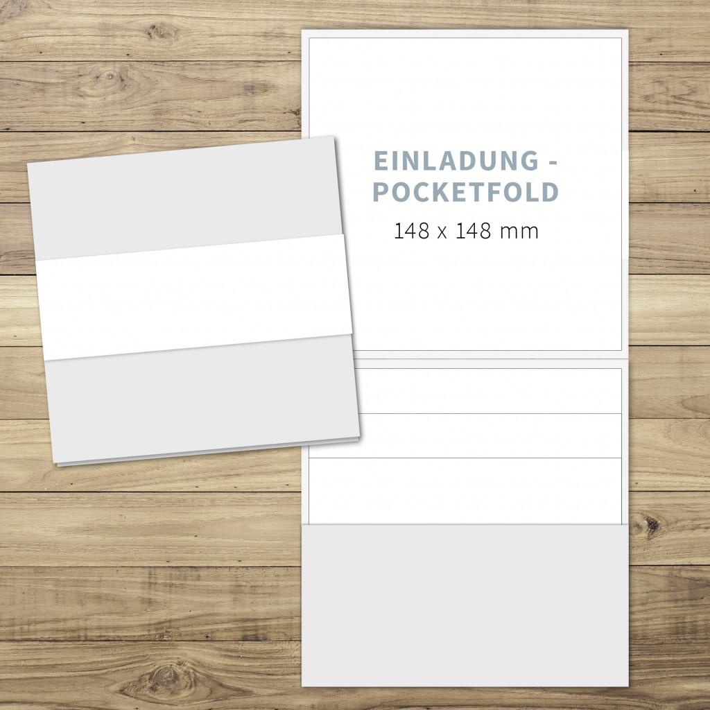 Blanko   Einladung   Pocketfold (hoch)   148 X 148 Mm   Für Individuelles