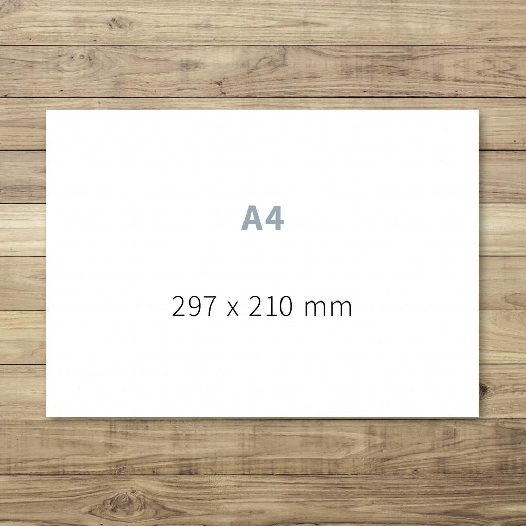 Druck von A4-Karten