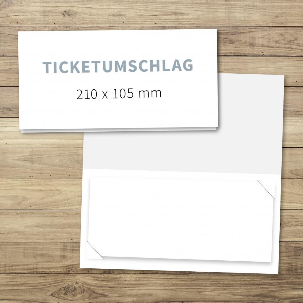 Ticketumschlag drucken