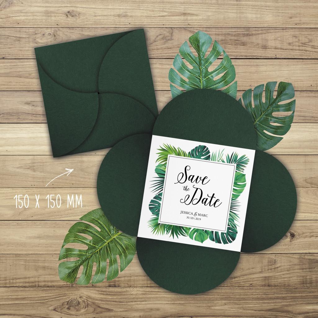 Palm Beach - Einladung - Petal-Fold - 150 x 150