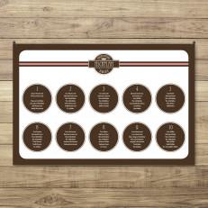 Tischplan Variante rund/braun