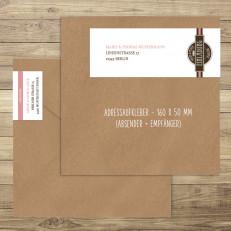Adressaufkleber eckig / Empfänger & Absender
