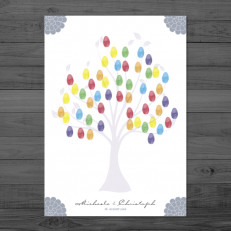 Bloomy Wedding - Weddingtree / Fingerprintposter