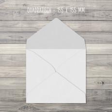 Briefumschläge – Quadratisch – 155 x 155 mm