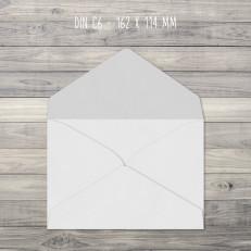 Briefumschläge – C6 – 162 x 114 mm