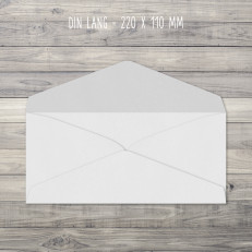 Briefumschläge – Din Lang – 220 x 110 mm