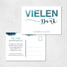Dankeskarte Postkarte