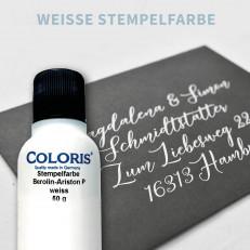 Weiße Stempelfarbe, 50 ml