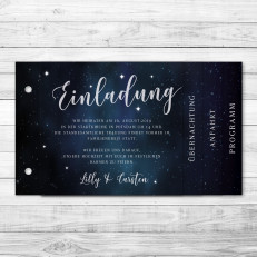 Galaxy - Einladung - Booklet - 170 x 100