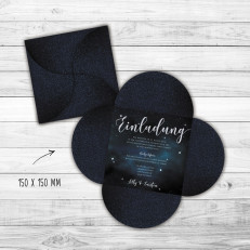 Galaxy - Einladung - Petal-Fold - 150 x 150