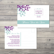 Garden of Love - Save the Date - Postkarte - 148 x 105
