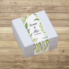 Green Leaves - Geschenkschachtel