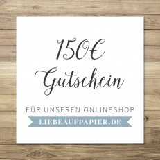 150 € - Gutschein