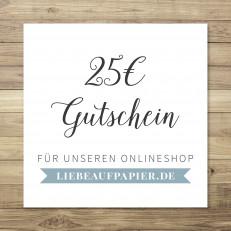 25 € - Gutschein