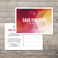 Polygon Wedding - Save the Date - Postkarte - 148 x 105