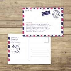 Reiseträume/Love is in the Air - Airmail - Save the Date - 148 x 105