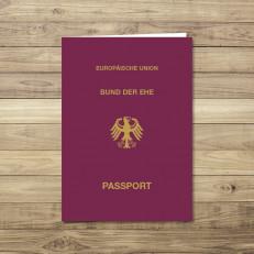 Reisepass geschlossen