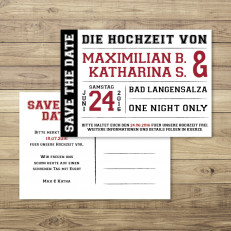 Love on Stage - Save the Date - Postkarte - 148 x 105