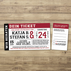 Love on Stage - Einladung - Ticket/Eintrittskarte - 197 x 85 mm