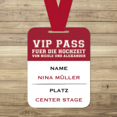 Love on Stage - VIP-Pass/Tischkarte - 70 x 90