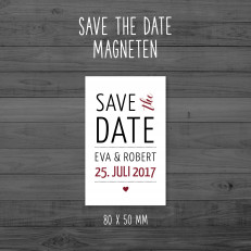 Save the Date - Magneten - 80 x 50 mm