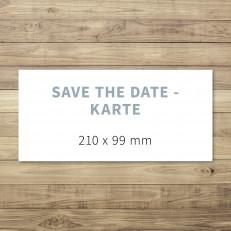 Blanko - Save the Date - Karte - 210 x 99 mm - für Individuelles Design