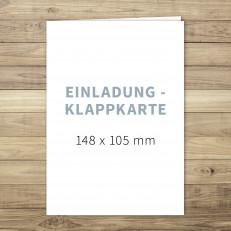 Blanko - Einladung - Klappkarte - 105 x 148 mm - für Individuelles Design