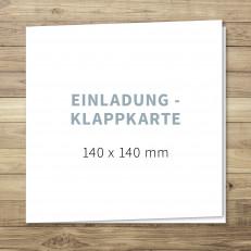 Blanko - Einladung - Klappkarte - 140 x 140 mm - für Individuelles Design