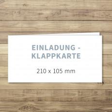 Blanko - Einladung - Klappkarte - 210 x 105 mm - für Individuelles Design