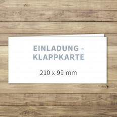 Blanko - Einladung - Klappkarte - 210 x 99 mm - für Individuelles Design