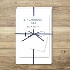 Blanko - Einladung - Einladungs-Set (DIY) - 110 x 170 mm - für Individuelles Design