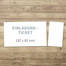 Blanko - Einladung - Ticket/Eintrittskarte - 197 x 85 mm - für Individuelles Design