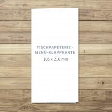 Blanko - Menü - Klappkarte - 105 x 210 mm - für Individuelles Design