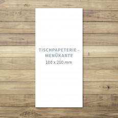 Blanko - Menükarte - 100 x 210 mm - für Individuelles Design