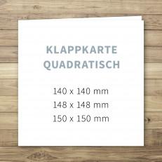 Klappkarte quadratisch