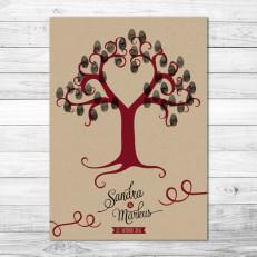 Rustical Kraftpaper - Weddingtree / Fingerprintposter