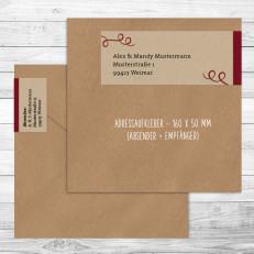 Rustical Kraftpaper - personalisierte Adressaufkleber (Absender u. Empfänger)
