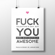 Poster zum Valentinstag - Variante 1