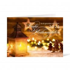 Weihnachtskarte - 148 x 105 Laterne gelb