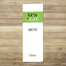 Yes - Menü - Klappkarte - 105 x 297 mm