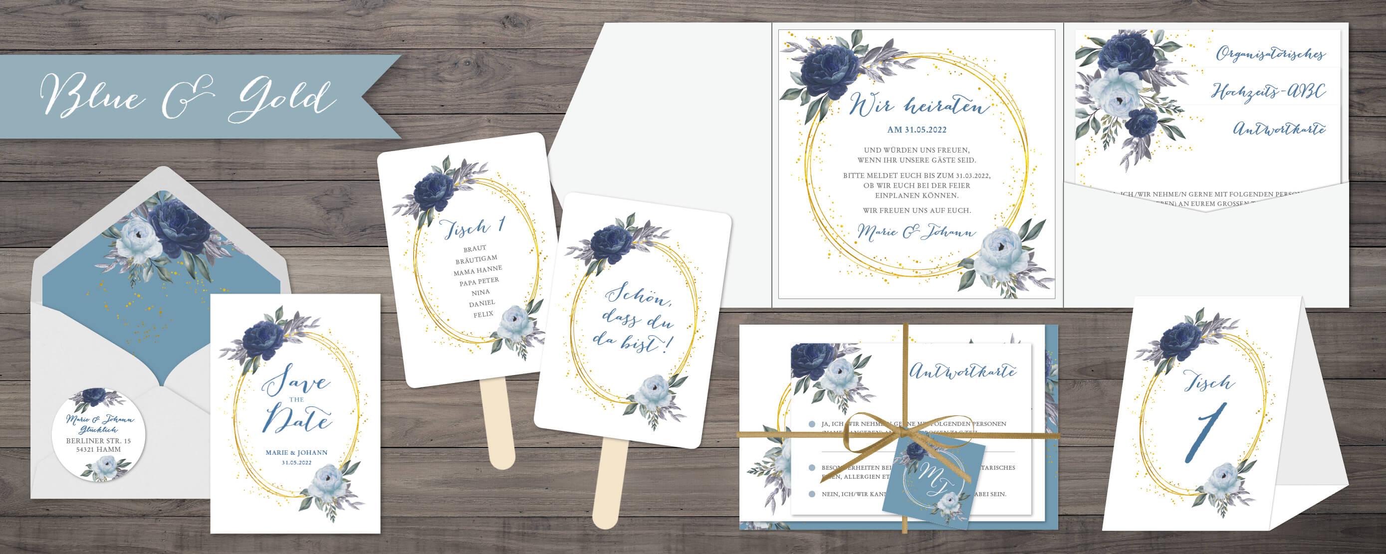 designserie Blue and Gold