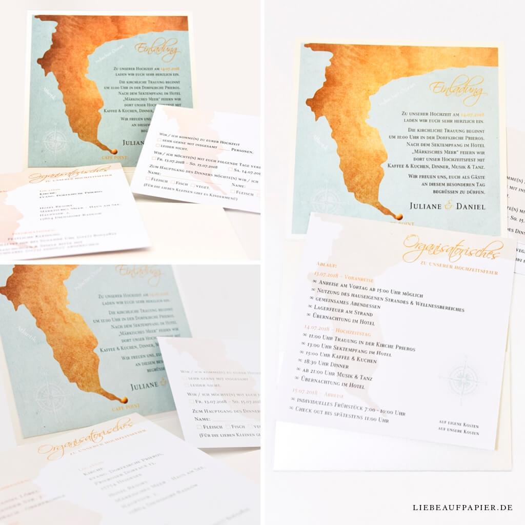 Nr. 37 – Individuelles Design – Pocketfold mit individuell erstellter Landkarte & 2 Einlegern.